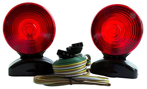 LifeSupplyUSA LED Volt Magnetic Towing Trailer Tow Light Tail Light Haul Kit Complete Set Auto, Boat, RV, Trailer, etc.