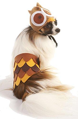Ethical Fashion Pet Owl Costume Cozy Elastic Head Piece Soft Wear Medium/Large for $<!--$9.49-->