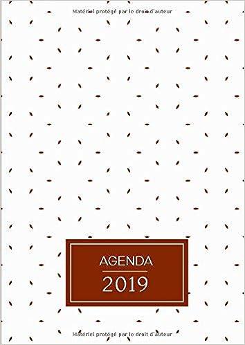 Calendrier Francais 2019.Amazon Com Agenda Semainier Grand Format A4 Motifs