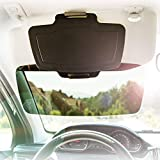 Sunset Car Sun Visor Extender Front and Side Window Anti Glare Shield for Vehicles - Full UV Protection for Drivers - Ultimate Auto Sun Screen Blocker - Reduces Eye Fatigue - Fully Adjustable