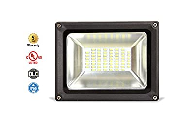 """8-PACK ASD LED Floodlight 30W SMD Outdoor Landscape Security Waterproof UL Listed DLC Certified 4000K (Bright White) WITH A 8"""" CORD"""