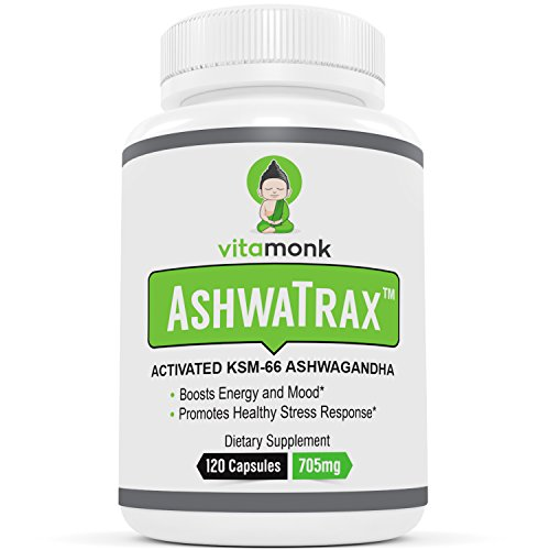AshwaTrax™ - ACTIVATED KSM-66 Ashwagandha Extract by VitaMonk - Enhanced with BioPerine® for Superior Absorption - Withania Somnifera - For Energy, Mental Clarity, Stress Relief - KSM 66 Capsules