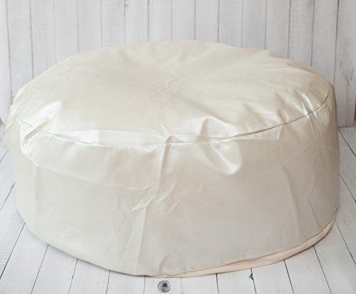 Studio Size Faux Leather Newborn Posing Bean Bag - Infant Poser Pillow -Photo Prop Not (Puck Bean Bag)