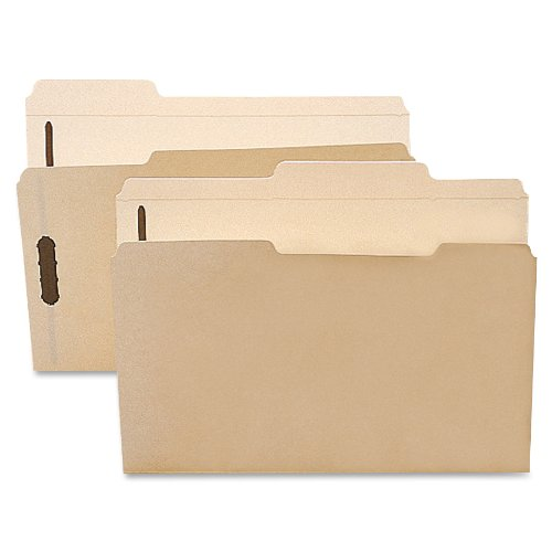 Smead Fastener File Folder, 2 Fasteners, Reinforced 1/3-Cut Tab, 1-1/2'' Expansion, Letter Size, Manila, 50 per Box (14595) by Smead