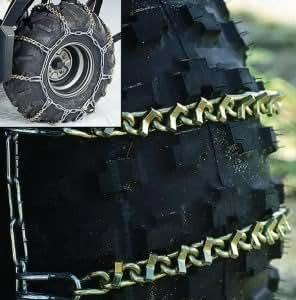 2000-2006 Yamaha YFM 400 FWNM Big Bear 4x4 ATV V-Bar Tire Snow Chain Pair [Rear]