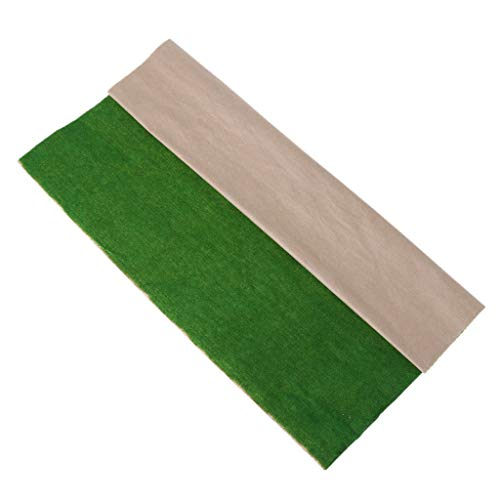 (JAGENIE 50x50cm Grass Mat Landscape Model Train Scenery Layout Lawn Home Decoration Christmas New Year Gift,1 pc, Random Delivery)