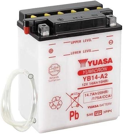 Batterie Yuasa Yb14 A2 Dc Offen Ohne Säure 12v 14ah Cca 175a 134x89x166mm Auto