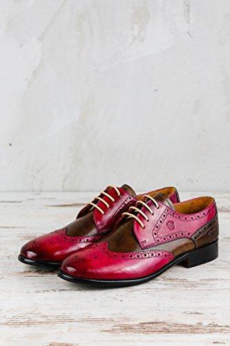 1044 Rosa amp; Cordones Mujer Zapatos Rosa Melvin Hamilton Lisa de Piel MH15 de para ZFxWSO