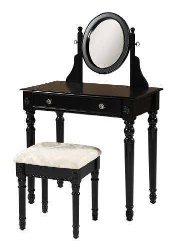 Linon Home Decor Lorraine Vanity Set, Black by Linon Home Dcor