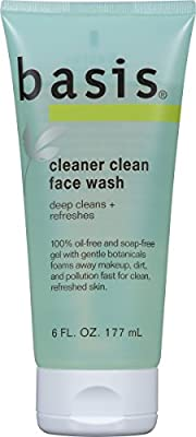 Basis Cleaner Clean Face Wash 6 Fluid Ounce (Pack of 3) from Basis