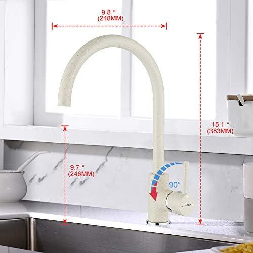 Beige K/üchenarmatur mit drehbarem Auslauf Khaki K/üche Wasserhahn GRIFEMA G4001C1 Irismart 3//8 de pulgada