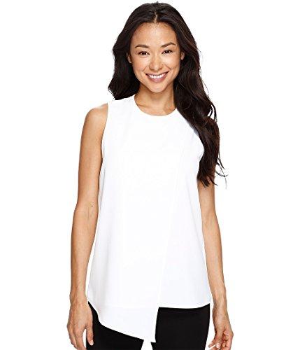 Karen Kane Women's Asymmetric Sleeveless Top Off-White Shirt