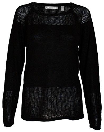 525 America Womans Long Sleeve Sweater Black - X-large