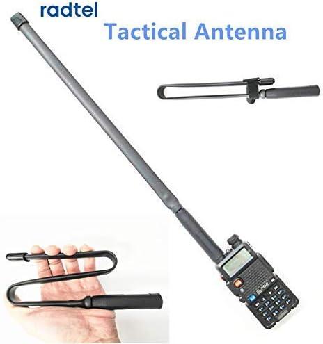 Radtel Tactical Antenna SMA-Female Dual Band VHF UHF 144//430Mhz Foldable for Baofeng UV-5R UV-82 UV5R Pofung uv82 Walkie Talkie