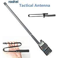 ABBREE Antena de Doble Banda para Deportes al Aire Libre Plegable VHF//UHF 144//430 MHz para Baofeng UV-XR UV-9R Plus GT-3WP UV-5RWP Radio de Dos v/ías Impermeable