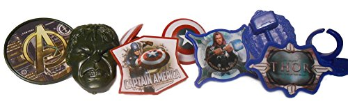 18 Marvel Super Hero Cupcake Ring Toppers - Captain America, Hulk, and Thor Party Cake Decorating Bundle