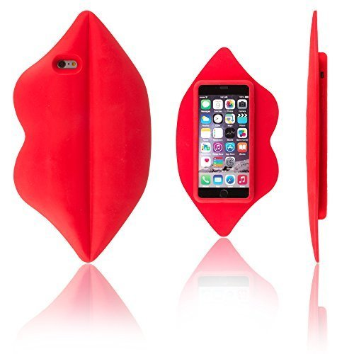Xcessor Lips Silicone Case for Apple iPhone 6 Plus and 6S Plus. Red