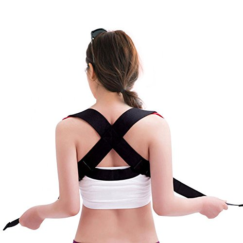 Filfeel Soporte de Postura Posterior, Ajustable elástica para la Espalda Corrección del Corrector Cinturón sujeción Banda...