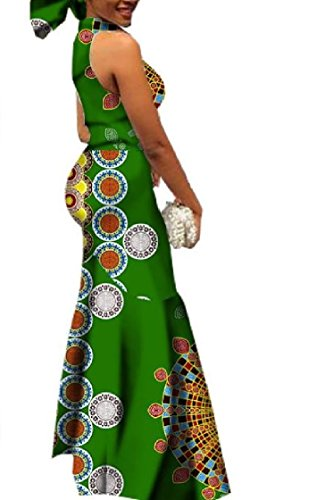 Coolred-femmes Grande Gaine Équipée Ourlet Floral Manches Robe Africaine As15