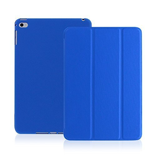(KHOMO iPad Air 2 Case - Dual Series - Ultra Slim Cover with Auto Sleep Wake Feature for Apple iPad Air 2nd Generation Tablet, Twill Blue (ip-air-2-dark-blue-2))