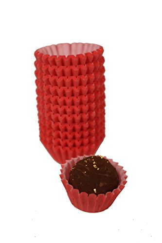 Paper Candy Cups - Glassine Chocolate Red Paper Candy Cups No.3-0.8''x3/4'' - Red - 200pcs