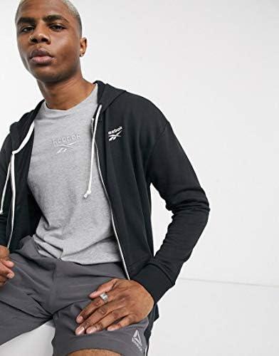 パーカー スウェット メンズ Reebok Training zip thru hoodie in black [並行輸入品]