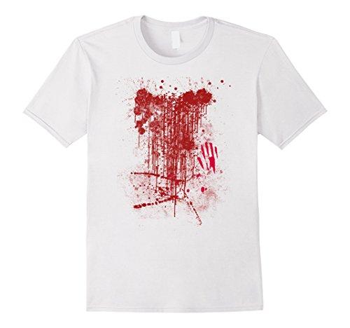 Mens Zombie Attack Blood Spattered Bloody Halloween T-Shirt XL (Halloween Blood T Shirt)