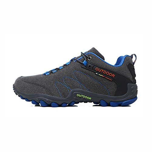 YaXuan Men's Hiking Shoes, Couple Outdoor Shoes, Non-slip Wear Cross-country Running Shoes,Men Sports Shoes,Walking Lightweight Lace-Up Shoes, (Color : A, Size : 44) by YaXuan