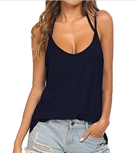 ソフィーアカデミック発信Tootess 女子高ネックバンド固体のセクシーバックレスベストタンクトップシャツ