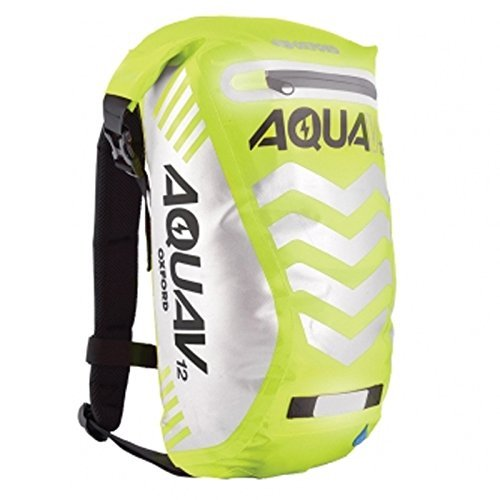 Oxford Aqua V 12 Extreme Visibility Waterproof Reflective Backpack - Yellow by Oxford