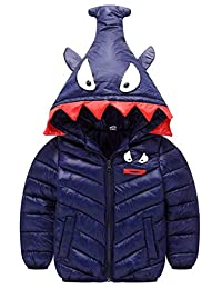 Happy Cherry Toddler Winter Down Coat Hood Cotton Puffer Jacket Windproof Outercoat