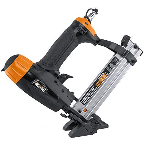 Freeman PFBC940 Pneumatic 4-in-1 18-Gauge 1-5/8 Mini Flooring Nailer and Stapler Ergonomic and Lightweight Flooring Nail Gun with Tool-Free Quick Release Latch