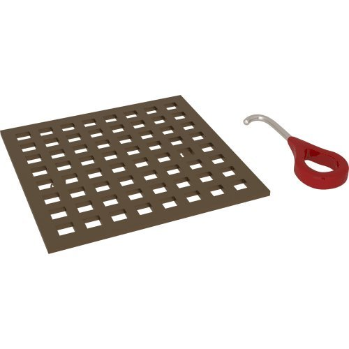 Rohl DC3143 5'' x 5'' Stainless-Steel Drain Cover, English Bronze