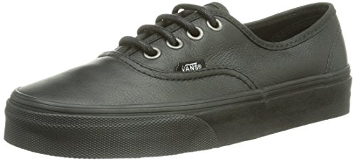 Vans U Authentic, Baskets mode mixte adulte Noir ((Itlianlthr)