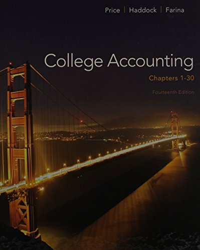 College Accounting ( Chapters 1-30) with Connect Plus