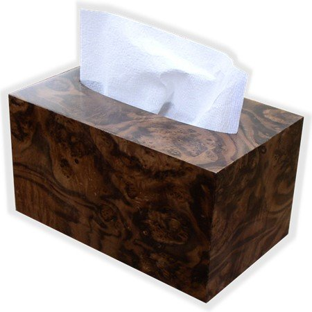 Hand Towel Box Cover and Dispenser made to fit Kimberly Clark Kleenex brand POP-UP Paper Hand Towel Box, By The Tissue Box Cover Store Walnut Burl Wood