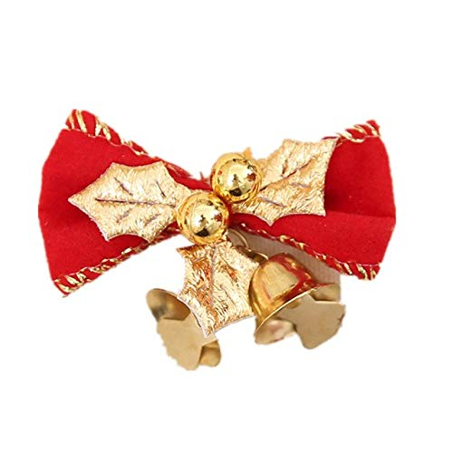 VT BigHome Christmas Tree Bow with 2pcs Metal Bell Home Garden Bows Christmas/Wedding Party Decoration Festive&Party Supplies from VT BigHome
