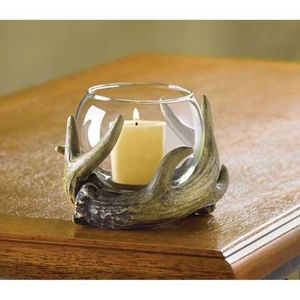 Crystal Candle Holder Glass Votive Western Tealight Menorah Wedding Pillar Lantern Centerpiece Decorative - Antler Pillar Hurricane