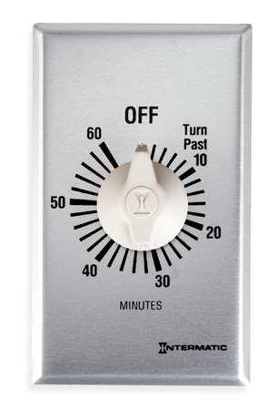 Intermatic FF360M Timer SPDT Spring Wound, 60 min, (60 Min Spring)