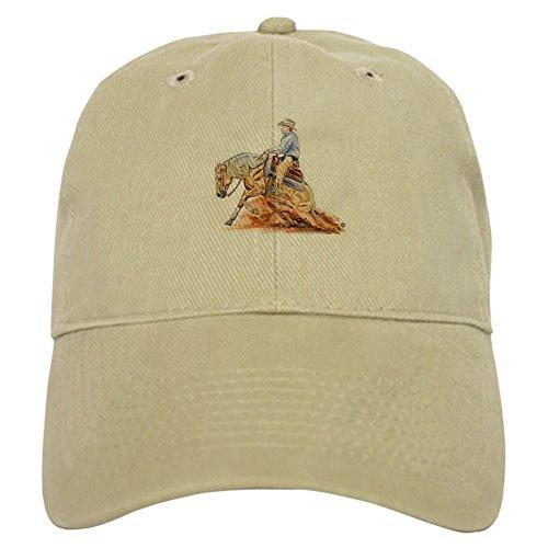 - CafePress Reining Horse Cap Baseball Cap with Adjustable Closure, Unique Printed Baseball Hat Khaki