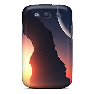 Flexible Tpu Back Case Cover For Galaxy S3 - Arch Moonlight