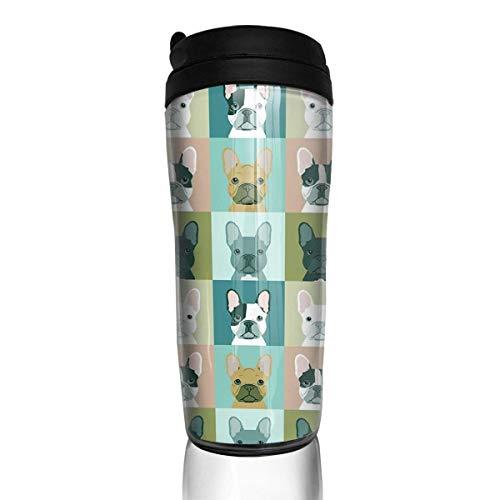 - Cute French Bulldog Pop Art Stylish Insulated Traveler Coffee Mug Tumbler Stainless Steel Coffee Cup 12 Oz