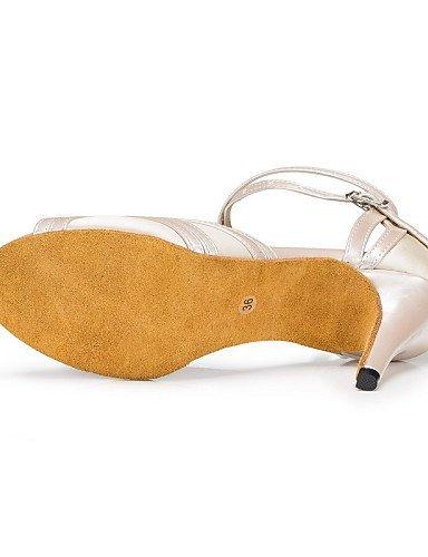 ShangYi Chaussures de danse ( Autre ) - Non Personnalisables - Talon Aiguille - Satin / Paillette Brillante -Latine / Jazz / Moderne / Chaussures Black