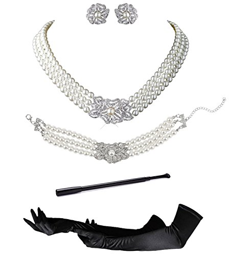 Audrey Hepburn Holly Golightly Breakfast at Tiffanys Costume Jewelry and Accessory Set -