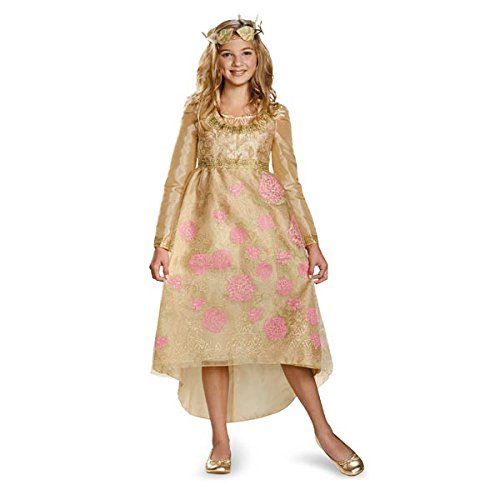 Aurora Costumes From Maleficent (Disguise Disney Maleficent Movie Aurora Coronation Gown Girls Deluxe Costume, Large/10-12)