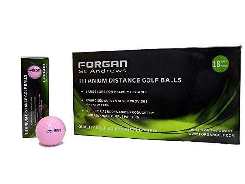 Forgan 360 Golf Titanium Distance Golf Balls PINK