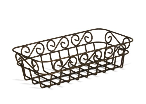Spectrum Diversified Scroll Bread Basket, Hammered Bronze Finish ()