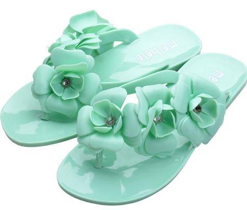 4 2 Playa Zapatillas Fashion 38 de wiBille Flores Green de diseño para Mujer Yellow vO41twxq