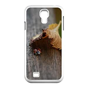 Samsung Galaxy S4 Cases Lady Bug in Hiding, Samsung Galaxy S4 Cases Bug Cute for Girls, [White]