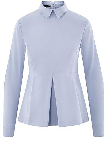 Chemisier Basque Bleu Ultra Coton en oodji Femme 7000n UExzwqwpn